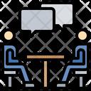 Business Meeting Hangouts Meet Communicate Icon
