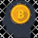 Bitcoin Mind Human Icon