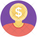 Money Mind Face Icon