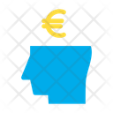 Business Mind Euro Money Icon