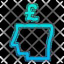 Business Mind Pound Money Icon