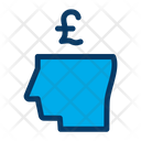 Business Mind Pound Money Icon