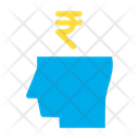 Business Mind Rupees Money Icon