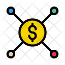 Dollar Sharing Connection Icon