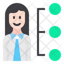 Business Network Manager Woman Icon