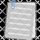Business Papers Description Documents Icon