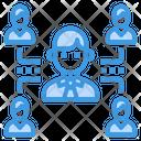 Businessman Network Teamwork Icon