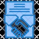 Contract Handshake Document Icon