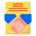 Contract Handshake Document Icon