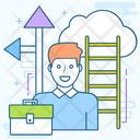Business Path Career Path Employee Career Icon