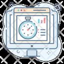 Seo Website Analytics Data Chart Seo Performance Icon