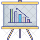 Analytics Business Performance Line Graph Icon