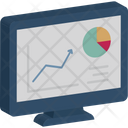Business Performance Dashboard Data Visualization Icon