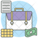Business Portfolio Luggage Bag Briefcase Icon