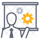 Business Presentation Presentation Development Process Icon