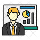 Business Presentation Graph Icon