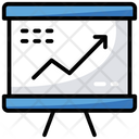 Business Presentation Trend Analysis Statistics Icon