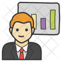 Business Presentation Statistics Analytics Icon