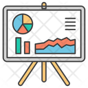 Business Presentation Graph Presentation Business Chart Icon