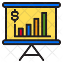 Presentation Money Bar Graph Icon