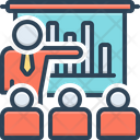 Business Presentation Demonstration Workshop Icon