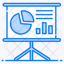 Business Presentation Graphical Representation Data Analytics Icon