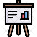 Business Presentation Board Chart Icon