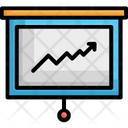 Business Presentation Chalkboard Easel Icon