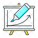 Education Flipchart Training Icon
