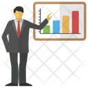 Business Presentation Business Analysis Icon