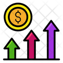 Business Profit Growth Chart Financial Project Icon