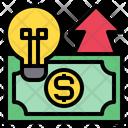 Light Bulb Money Up Arrow Icon
