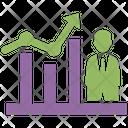 Business Progress Financial Analytics Graphical Representation Icon