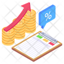 Business Growth Business Raise Data Growth Icon