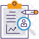 Business Report Statistical Analysis Business Growth Icon