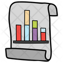 Graph Report Bar Graph Business Report Icon