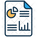 Business Report Business Analysis Report Icon