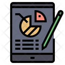 Business Report Pie Chart Analysis Icon