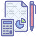 Business Report Accounting Budget Icon
