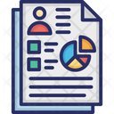 Business Report Profit Report Business Card Icon