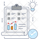 Data Analysis Business Report Infographic Icon