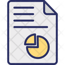 Business Report Financial Report Graph Report Icon