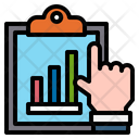 Clipboard Growth Graph Hand Icon