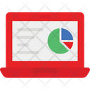 Business Report Economy Graph Online State Icon