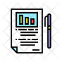 Business Report Color Icon
