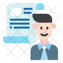 Business Report Employee Man Icon