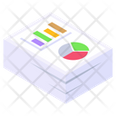 Data Analytics Graph Paper Business Report Icon