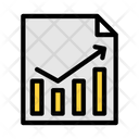 Business Report File Trading Arrow Growth Graph Icon
