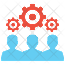 Business Specialist Teamwork Support Team Icon