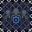 Business Specialist Teamwork Support Team Icon